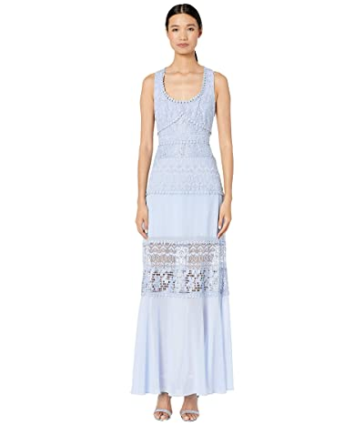 BCBGMAXAZRIA Embroidered Evening Gown (Kentucky Blue) Women