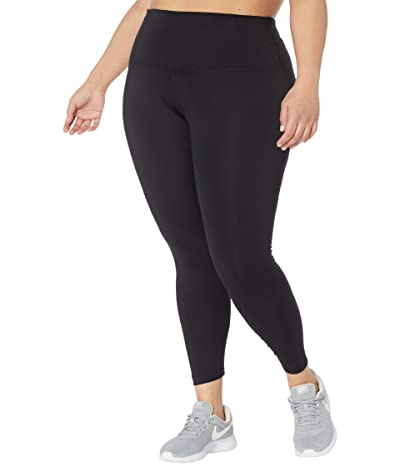 Nike Plus Size the Yoga 7/8 Tights (Black/Dark Smoke Grey) Women