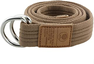 moonsix Canvas Web Belts for Men, Military Style D-ring Buckle Men's Belt