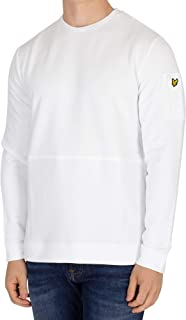Lyle & Scott Men's Fabric Mix Sweatshirt, White