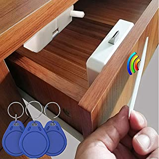 RFID Electronic Cabinet Lock Hidden DIY Electronic Induction Lock ,Invisible Cabinet Lock,for Wooden Cabinet Locker Drawer...