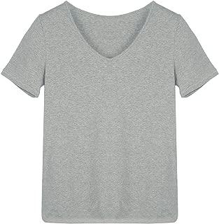 Womens Cotton Short Sleeve V-Neck T-Shirt