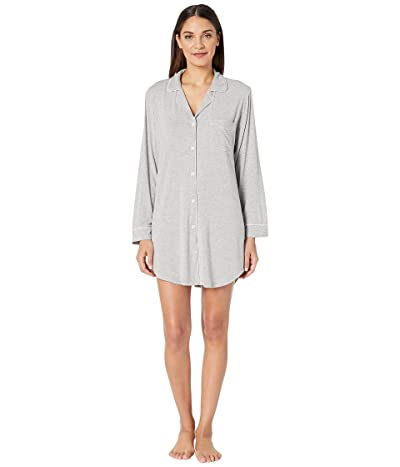 Eberjey Gisele The Boxed Sleepshirt (Heather Grey/Sorbet Pink) Women
