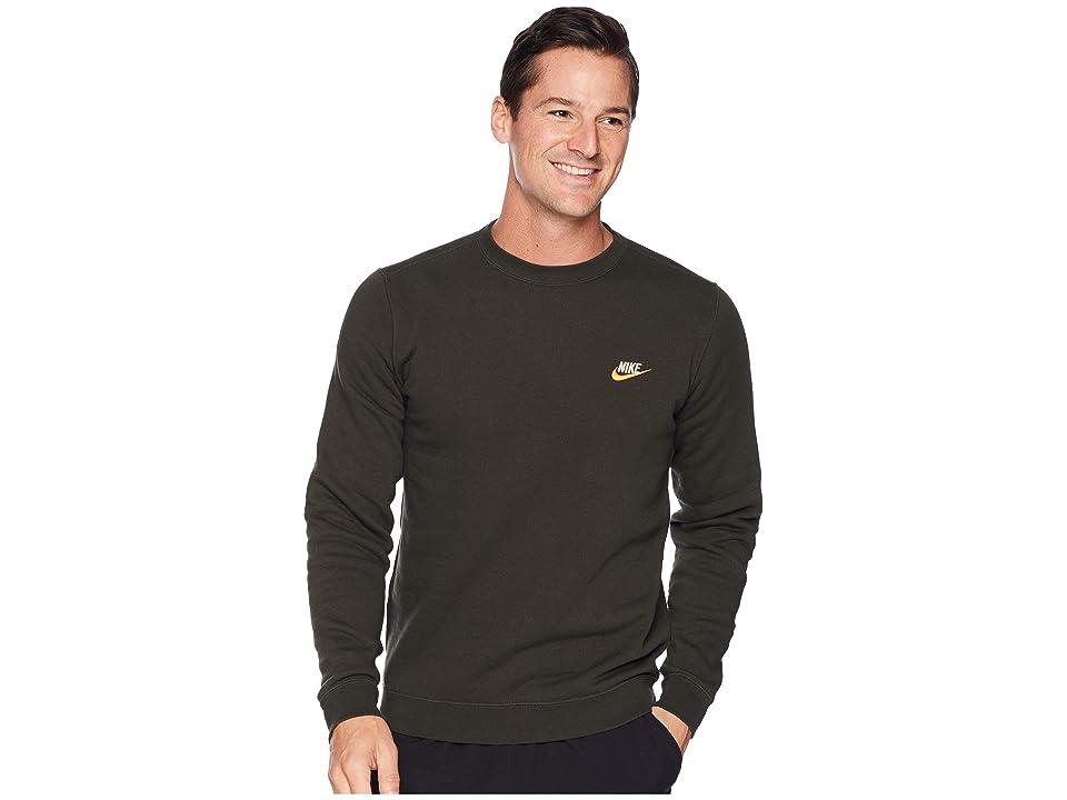 Nike Club Fleece Pullover Crew (Sequoia/String) Men