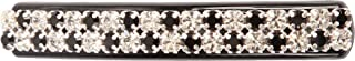 Caravan LG Automatic Barrette with Jet and Crystal Swarovski Rhine Stone, 0.5 Ounce