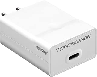 TOPGREENER USB C Wall Charger 5V/ 3A for Nintendo Switch, Pixel & XL, Lumia 950XL, Nexus 6P (Rapid Charging), Galaxy S8 Plus, Compatible with Other Type-C 5V Devices, 15W, TPU3AC, White