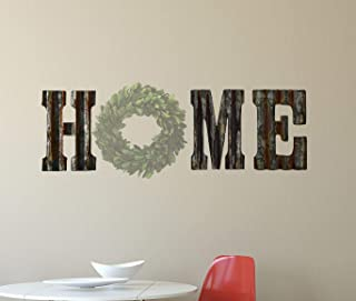 Rusty Tin Letters HME to make a Rustic Metal Wall Decor HOME Galvanized Tin Decorations