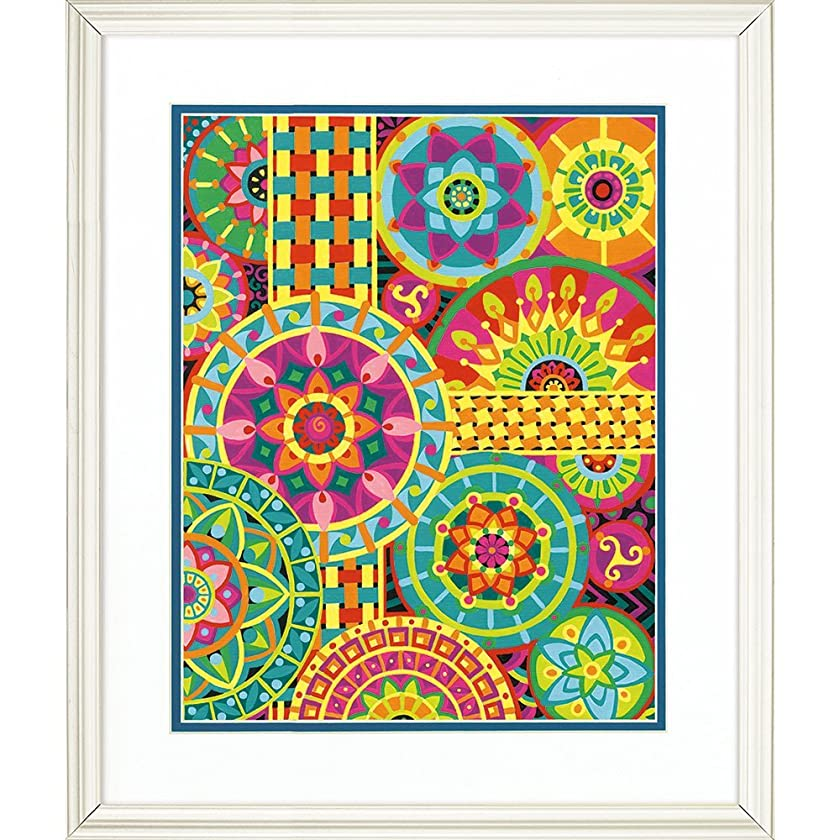 Dimensions Paint Works PaintWorks Mandala Montage Paint-by-Number Kit, 73-91542