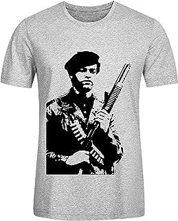 LOV-Tshirts Design Huey P Newton Alchetron Man T-Shirt Cotton O Neck Grey