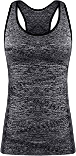 DISBEST Yoga Tank Top,  Women's Performance Stretchy Quick Dry Sports Workout Running Top Vest with Removable Pads