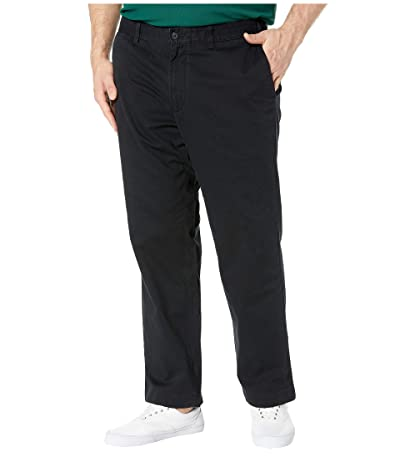 Nautica Big & Tall Big Tall True Flat Front Pant (True Black) Men