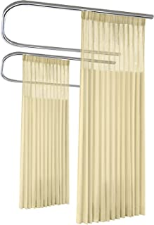 10ft Wide x 8ft Tall Pinch Pleated for Hospital Medical Clinic SPA Lab Cubicle Curtain Divider Privacy Screen, Vanilla, (Track Hardware Not Included)