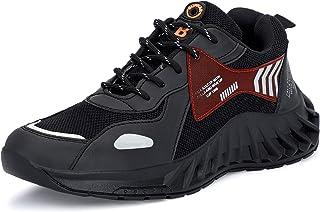 aRICS Men's Black Mesh Sports Shoes