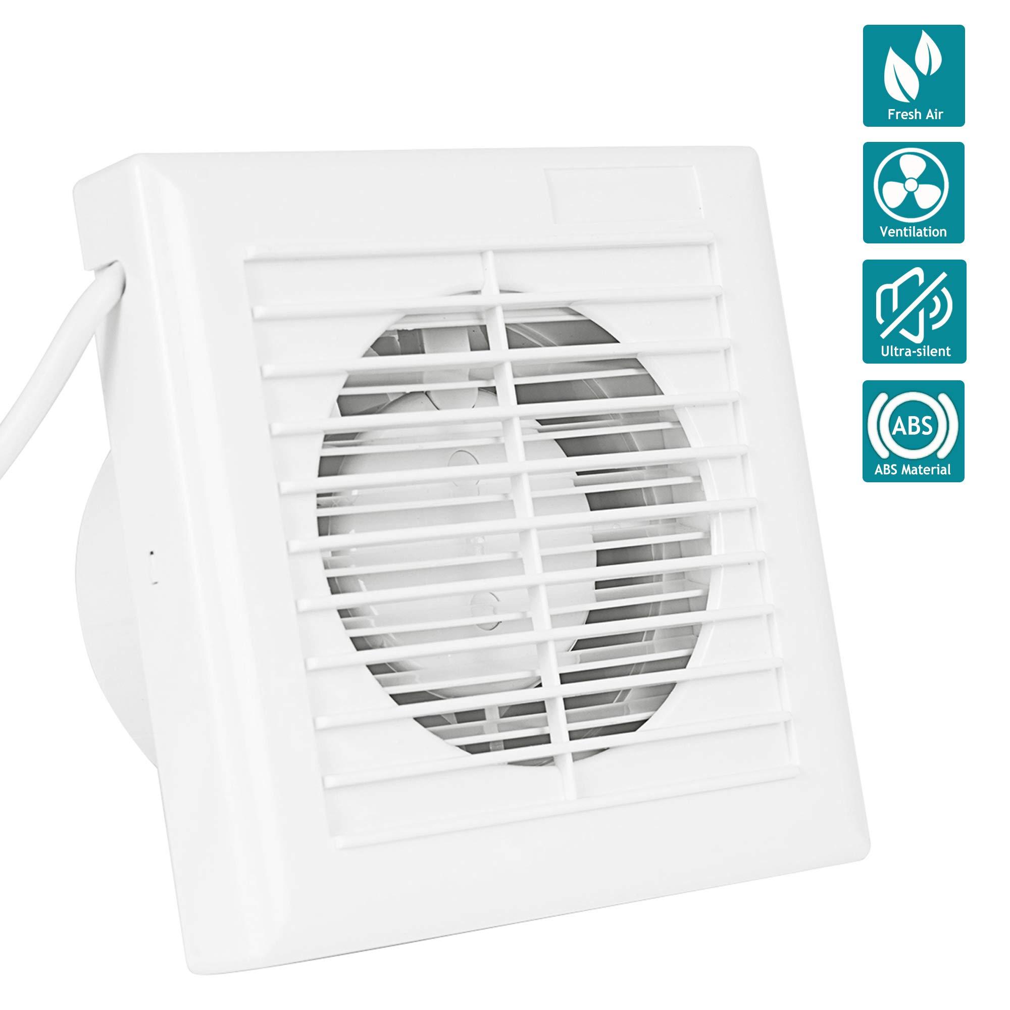 InLine de ventilador, HG Power 4 pulgadas Canalizado Ventilador ultra silencioso con eficiente ventilación, pared de ventilador para cocina/cuarto de baño/dormitorio/oficina: Amazon.es: Bricolaje y herramientas