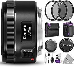 Canon EF 50mm f/1.8 STM Lens w/Essential Photo Bundle -...