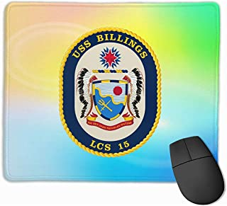 USS Billings LCS-15 Littoral Combat Ship Rectángulo Goma Antideslizante Mousepad Gaming Mouse Pad 25X30cm