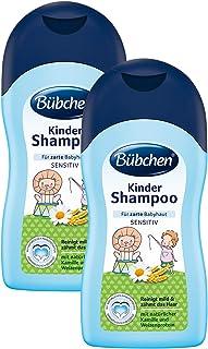 Bübchen Kinder Shampoo, sensitives Haarshampoo für zarte Babyhaut, mit natürlicher Kamille und Weizenprotein, Menge: 2 x 400 ml