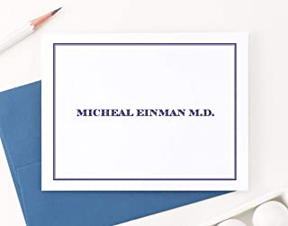 Personalized Stationary for Men or Women, FOLDED Personalized Note Cards, Your Choice of Colors and Quantity
