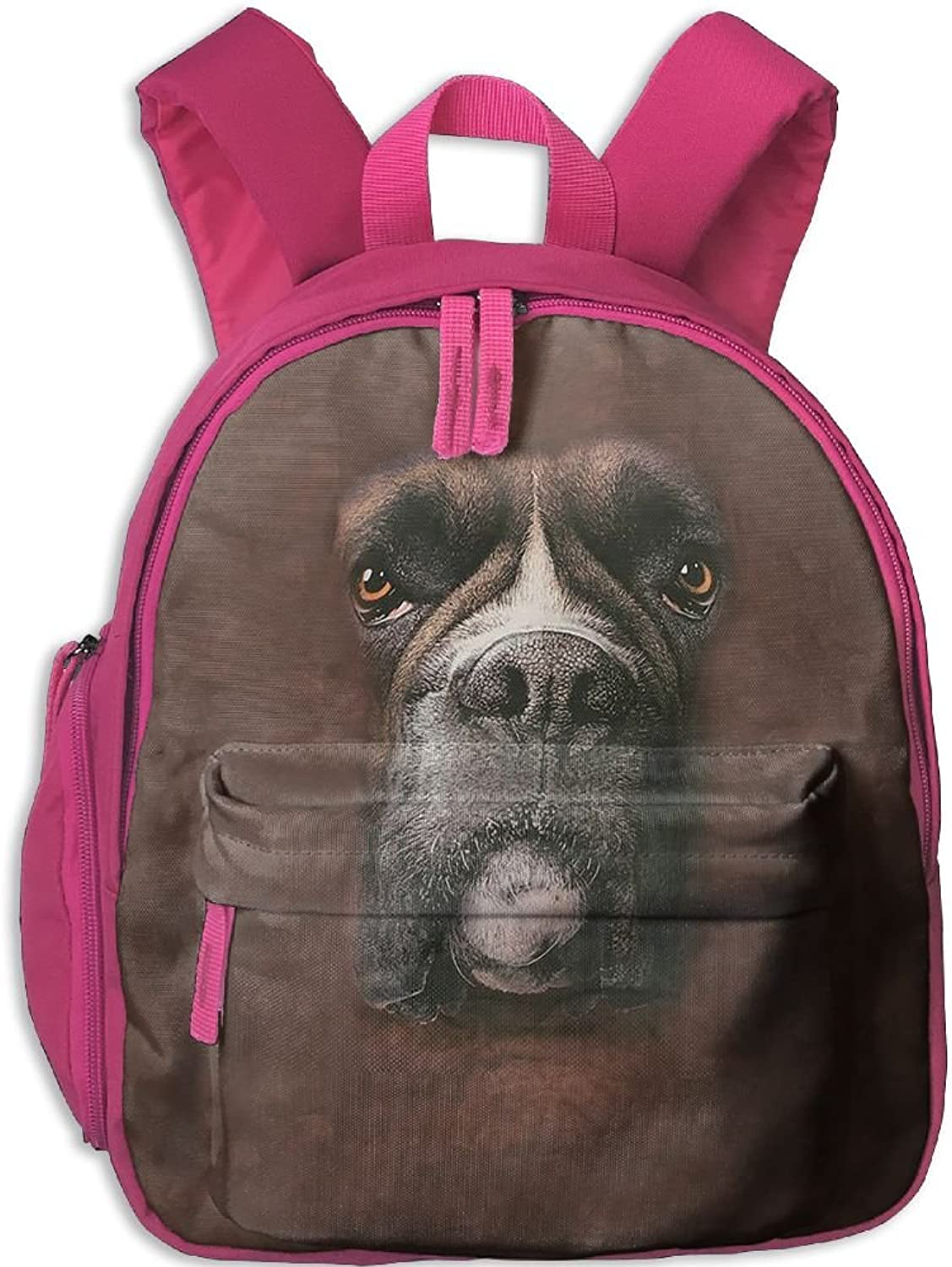 School Bag Boxer Face With Durable Travel Camping Camping