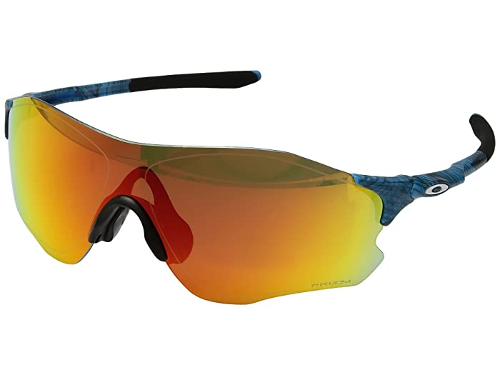 Oakley  (A) EVZero Path (Aero Grid Sky with Prizm Ruby) Fashion Sunglasses