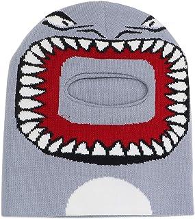 أطفال الشتاء بالاكلافا قبعة الكرتون القرش الوجه تغطية تزلج الرقبة الجرموط تدفئة قبعة للأولاد والبنات