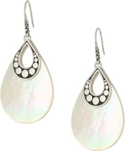Dot Drop Earrings with White Mother-of-Pearl
