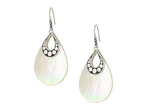John Hardy Dot Drop Earrings with White Mother-of-Pearl