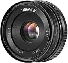 $49 » Neewer 32mm F/1.6 Manual Focus Prime Fixed Lens Large Aperture Wide Angle Lens Compatible with Fujifilm APS-C Frame Mirrorless Camera: X-T1 X-T2 X-Pro1 X-Pro2 X-M1 X-T10 X-A1 X-A2 X-A3 X-E1 X-E2 X-E3