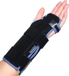 Velpeau Carpal Tunnel Wrist Brace -Night Sleep Wrist Support for Men, Women, Tendonitis, Arthritis, Broken, Sports Injuries Pain Relief -Removable Splint -Adjustable Ergonomic Fit(Left Hand,Medium)