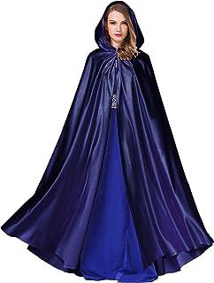 BEAUTELICATE Women`s Wedding Hooded Cape Bridal Cloak Poncho Full Length (More Colors)