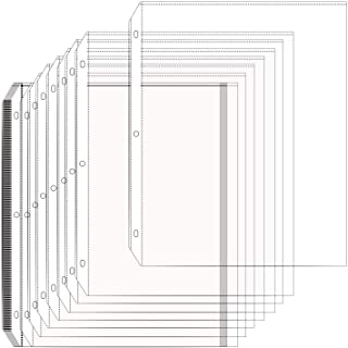 Arae Clear Sheet Protectors for 3 Ring Binder 8.5 x 11 inch Heavy Duty Plastic Sleeves Reinforced Holes, 50 Pack