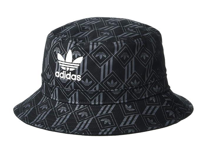 adidas Originals  Originals Monogram Bucket (Black/Bold Onix) Bucket Caps