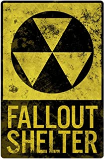 Fallout Shelter Vintage Style Laminated Dry Erase Sign Poster 12x18