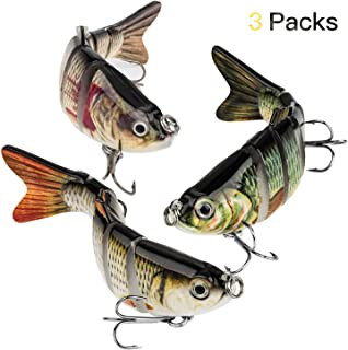 YL 0UTDOOR Fishing Lures Topwater Bass Lures Artificial Multi Jointed Swimbaits Carbon Steel Hard Bait