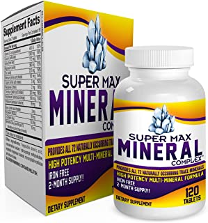 Sponsored Ad - 2-Month Multi Mineral Supplement (Iron Free) with 72 Trace Minerals - Supplements - Natural Multiminerals -...