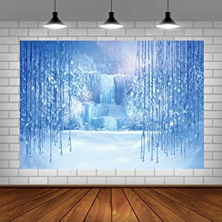 Winter Frozen Photo Backdrops Christmas Snow Ice Theme Baby Shower Background Happy 1st Birthday Newborn Baby Party Decorations Banne Photo Studio Props 5x3ft