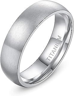 TIGRADE 4mm 6mm 8mm حلقه تیتانیوم براق گنبد عروسی بند مناسب راحتی 4-14.5