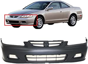 MBI AUTO - Primered, Front Bumper Cover for 2001 2002 Honda Accord Coupe, HO1000195
