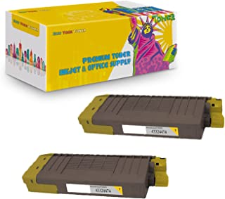 NYT Compatible High Yield Toner Cartridge Replacement for 43324474 for OKI CX2032 MFP (Yellow, 2-Pack)