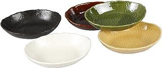 西海陶器楕円 多用 鉢 あじわい 日本製 18.5 × 13.5 cm 5個 セット 13353