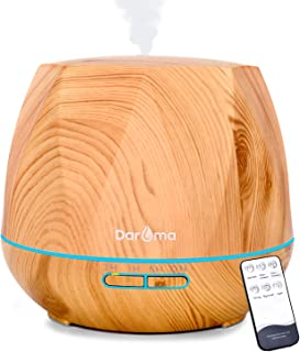Daroma 550ml Essential Oil Diffuser, 5 In 1 Aromatherapy Ultrasonic Cool Mist Humidifier Room Air Scent for Home Office Gift - Light Wood Grain Design