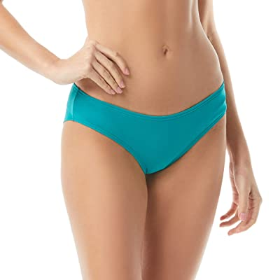 Vince Camuto Surf Shades Shirred Smooth Fit Cheeky Bikini Bottoms (Riviera) Women