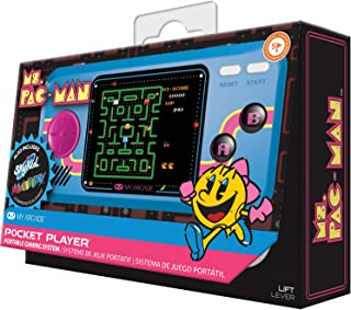 My Arcade Ms. Pac-Man Pocket Player - Collectible Handheld Game Console with 3 Games