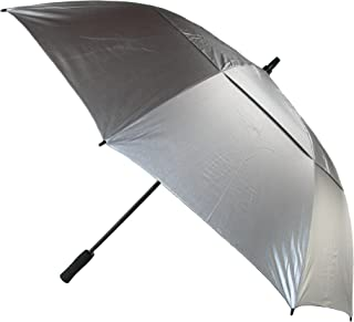 CTM Windbuster Golf Stick Umbrella, Silver/Black