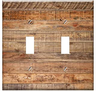 Switch Plate Double Toggle - Wood Background Wall Structure Grain Tree Nature