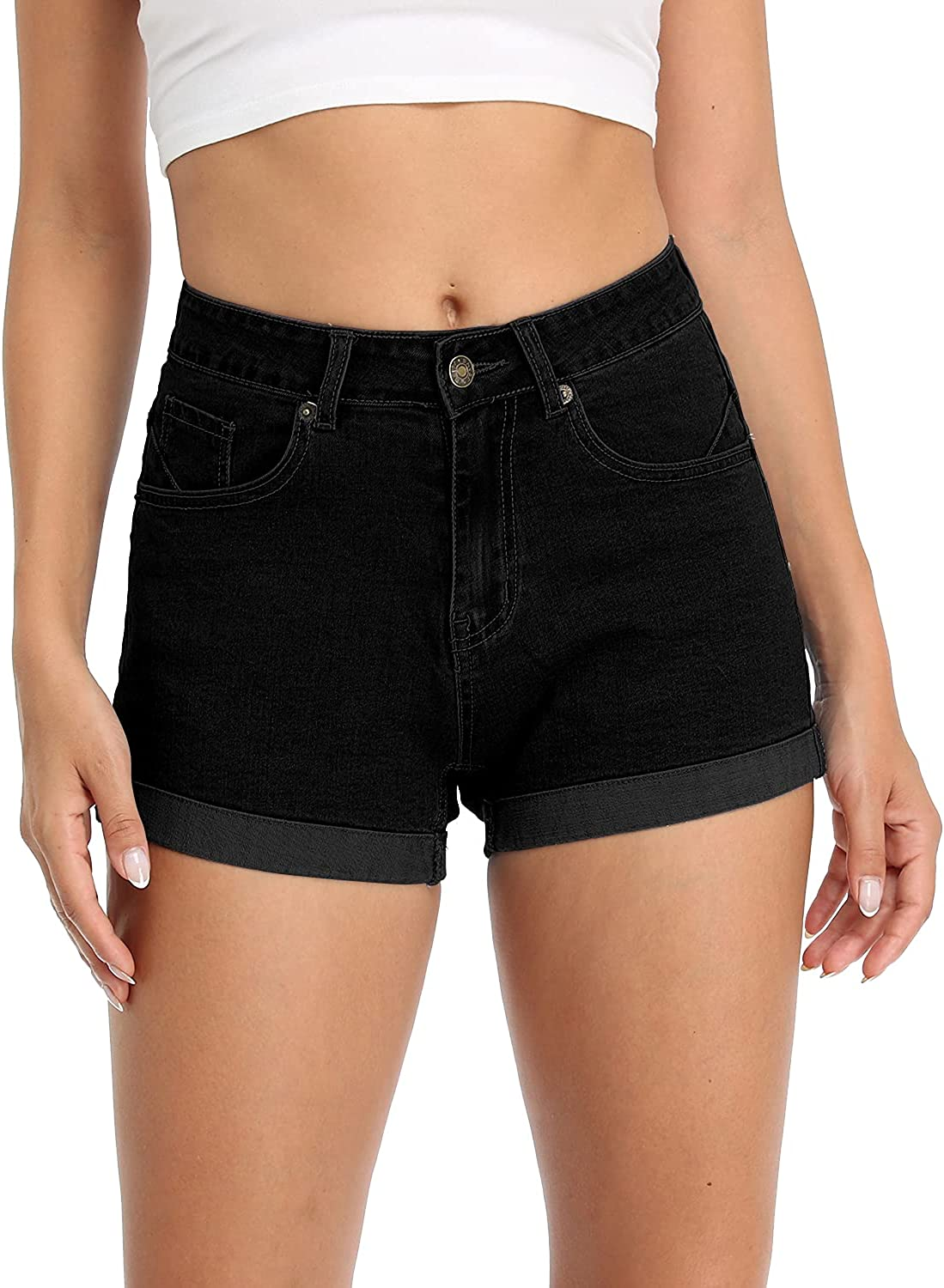 onlypuff Denim Hot Shorts for Women Waisted Summer Omaha Mall Mid Sh Casual Free shipping / New