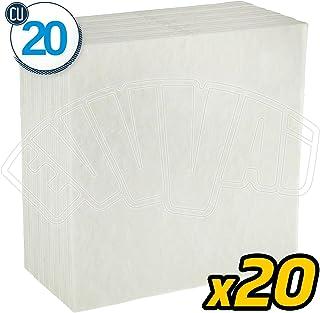 20 unidades - CU20 - Cartones filtrantes universales 0,7 micras 20 x 20 esterilizante vino