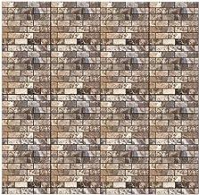 Adesivo de parede 3D BESPORTBLE, autoadesivo, vintage, retrô, removível, papel de parede com padrão de tijolos para cozinh...