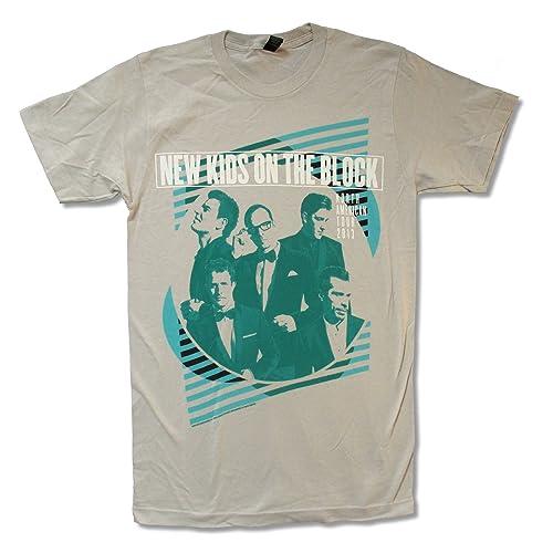 e4ffcdc9b Bravado Adult New Kids On The Block Green Lines Light Grey T Shirt