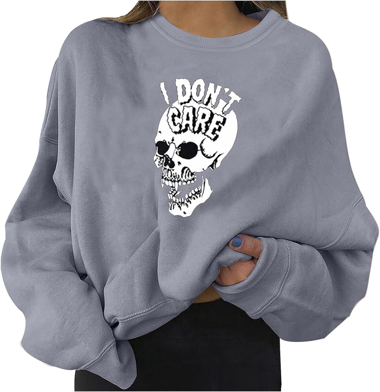 Fullwei Sweatshirt for Women service Crewneck Cute Halloween New York Mall Graph